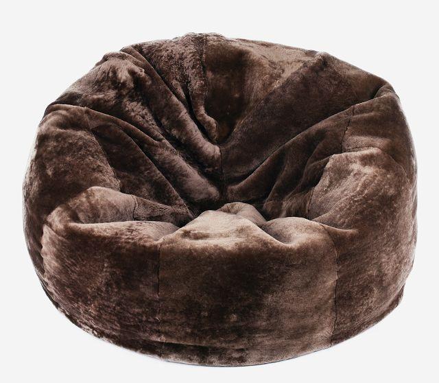 xxl lammfell sitzsack bean bag pouf kissen fell schaffell braun sheepskin 120cm ebay. Black Bedroom Furniture Sets. Home Design Ideas