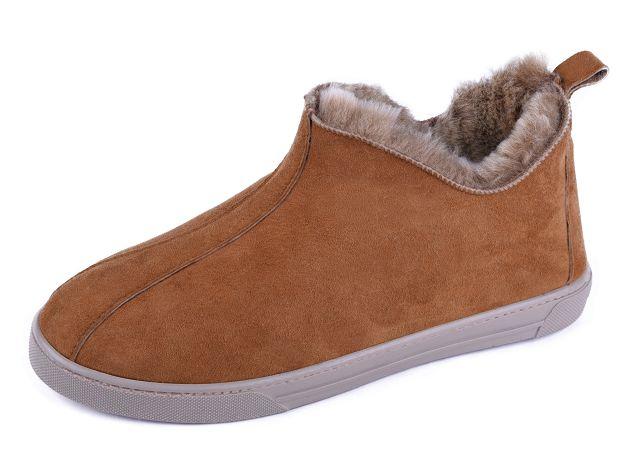 Details zu Skandinavische Lammfell Schuhe Leder Mokassin Lederschuhe Hausschuhe für Draußen